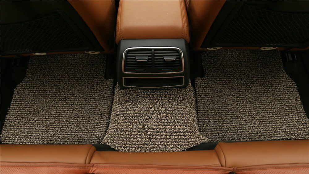goroo car mats back row brown and beige