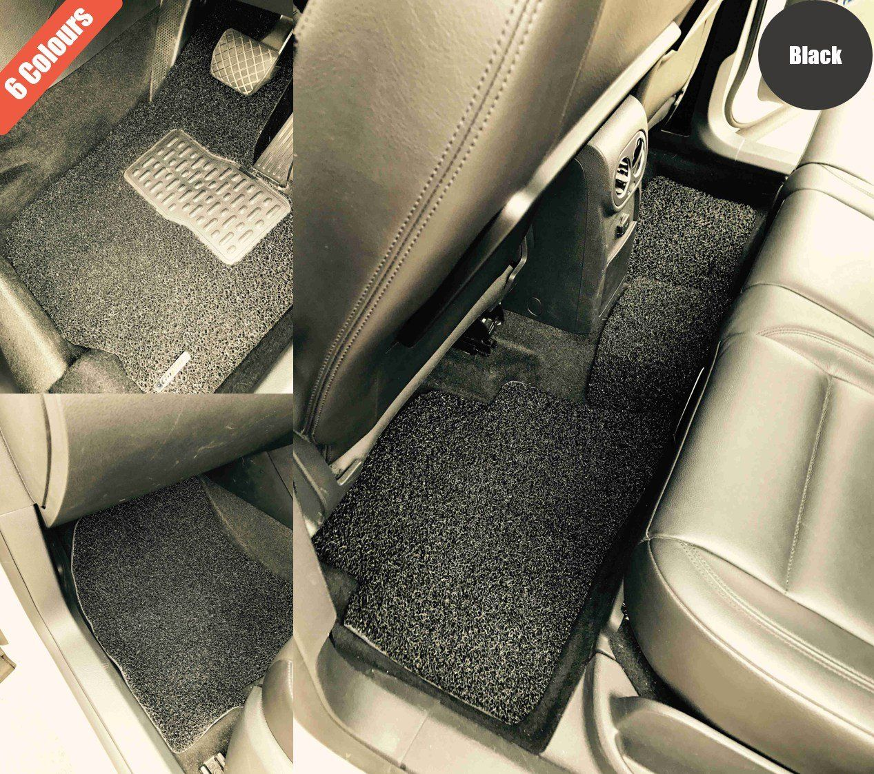 Goroo Custom Car Floor Mats - Black