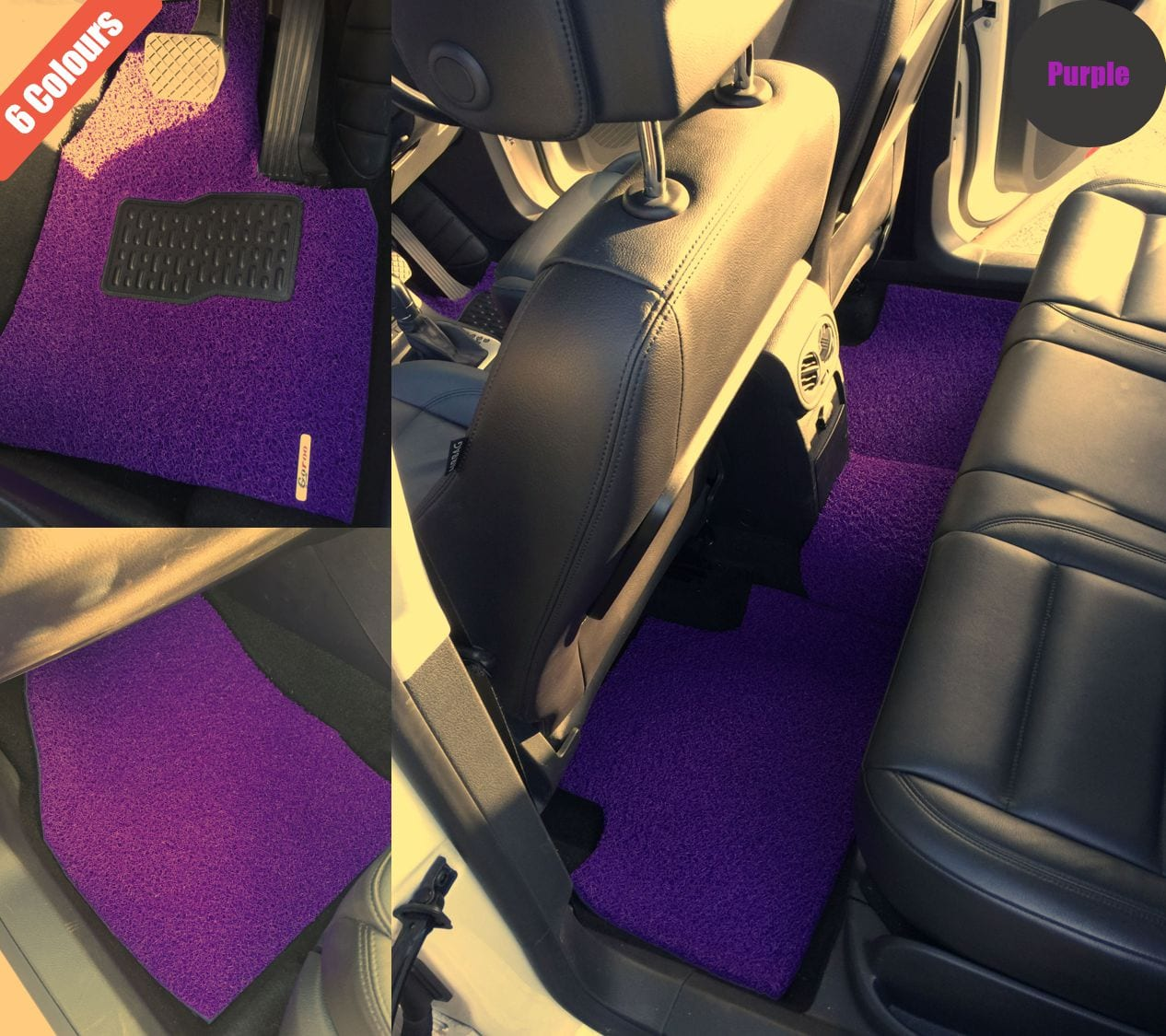 Goroo Custom Car Floor Mats - Purple